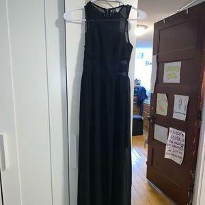 sheer long black dress from H&M